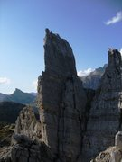 Rock Climbing Photo: Torre Inglese looking at the Via Normale route (mu...