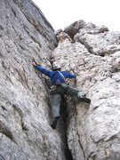 Rock Climbing Photo: First pitch of Via Normale on Torre Inglese in the...