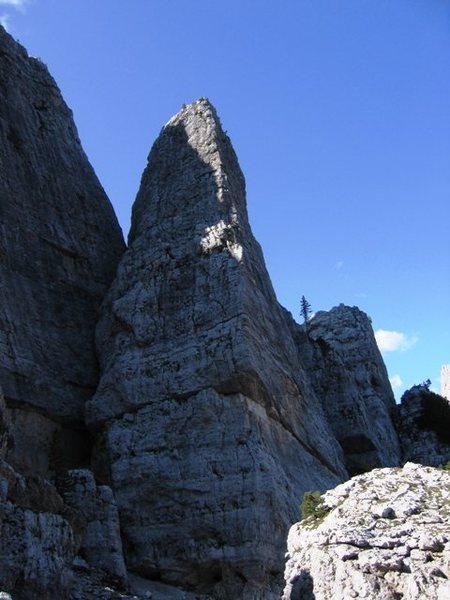 South face of Torre Quarta Bassa