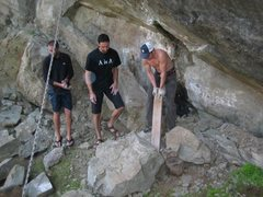 Rock Climbing Photo: Much time is spent moving rocks. What? You don't d...
