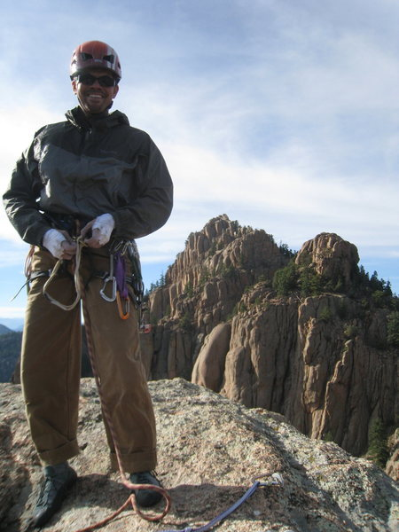 On the summit of Cynical Pinnacle.