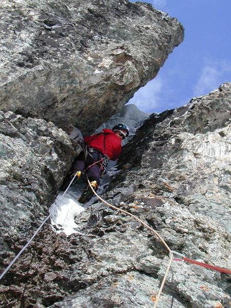 Rock Climbing Photo: The ice crack.