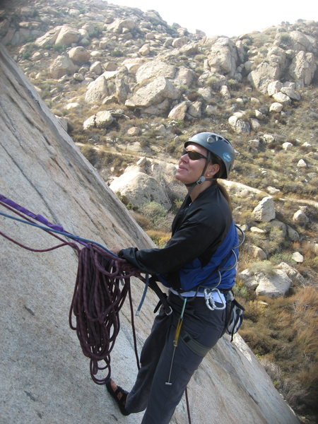 Rock Climbing Photo: Agina belaying Nathan.