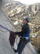 Rock Climbing Photo: Agina belaying Nathan.