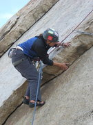 Rock Climbing Photo: Agina following Right Flake.