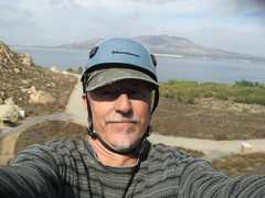 Rock Climbing Photo: Self portrait while waiting my turn to climb.