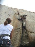 Rock Climbing Photo: Nathan on Rat Crack with Agina on belay.
