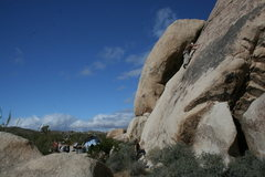 Rock Climbing Photo: Nathan on Bonnie Brae. Looking to be a good day.
