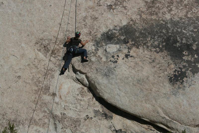 Rock Climbing Photo: Agina on Bonnie Brae.