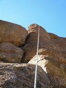 Rock Climbing Photo: Ann finishing Ferocious Flo