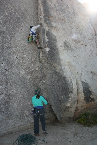 Rock Climbing Photo: Me on Diagnostics belayed by Agina.