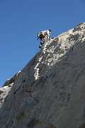 Rock Climbing Photo: Me topping out on Diagnostics.