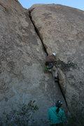 Rock Climbing Photo: Nathan leading Music Box.