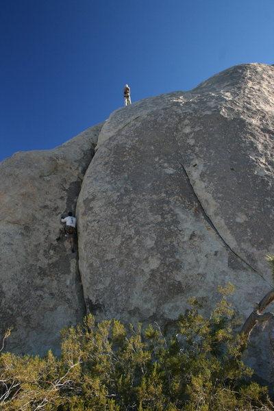 Rock Climbing Photo: Me following Music Box.