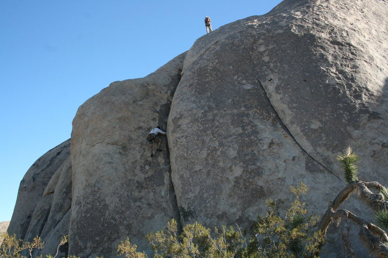 Rock Climbing Photo: Me following Music Box.
