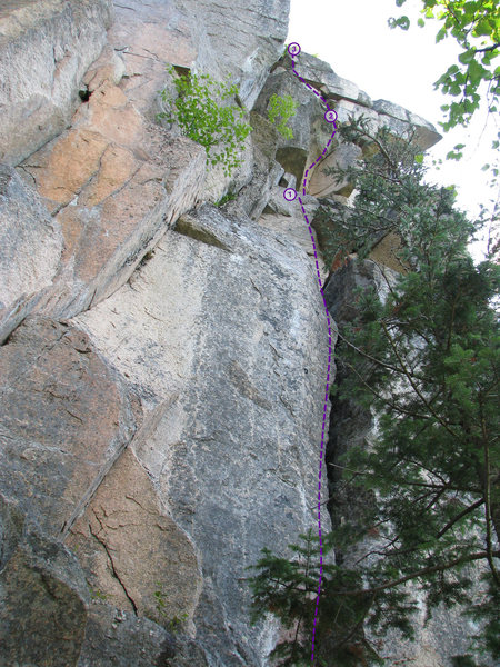 Rock Climbing Photo: Sporty Owl topo - three pitches of goodness, lots ...