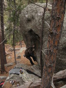Rock Climbing Photo: The best problem at the Emancipation Boulders: The...