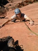 Rock Climbing Photo: John Thomson on the final move of Tidrick's, 11/2/...