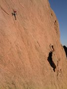 Rock Climbing Photo: Buster Jesik at the crux on Place in the Sun. 10/6...