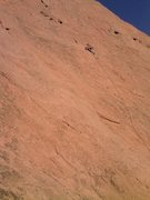 Rock Climbing Photo: Buster Jesik at the final move on Place in the Sun...