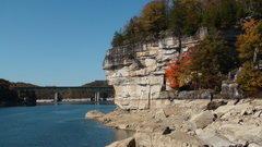 Rock Climbing Photo: fall colors / low water
