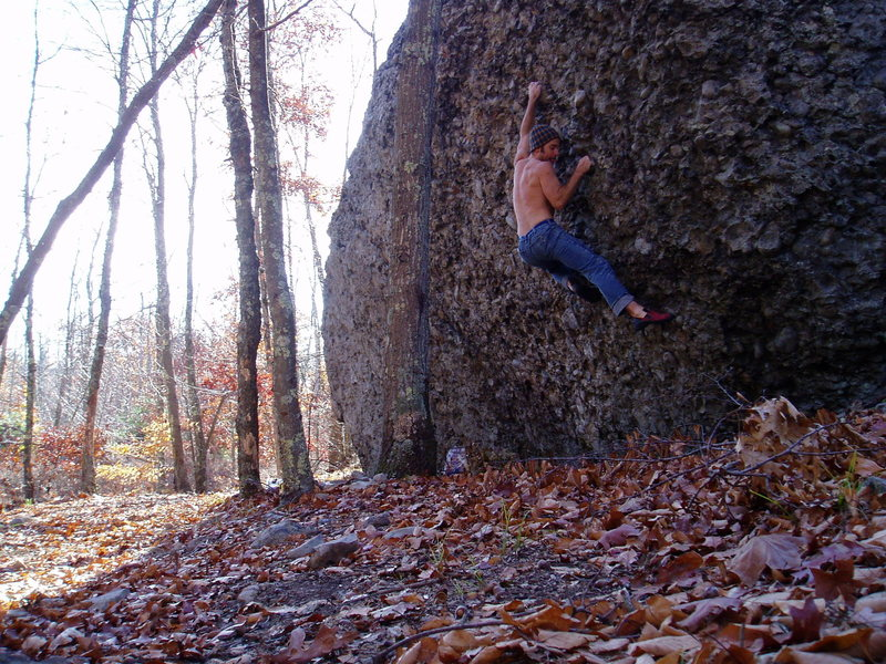 Rock Climbing Photo: Stealth pudding stone in the pilgrim belt.