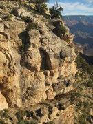 Rock Climbing Photo: The climb up the streak is Holey Terror .10a