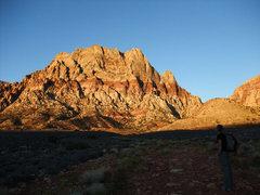 Rock Climbing Photo: morning light on Mt Wilson
