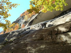 Rock Climbing Photo: Me just past the first overlap Photo by Loran Smit...