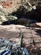 Rock Climbing Photo: Dow coming up P2