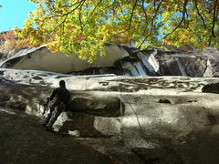 Rock Climbing Photo: The overlap of Relic.Right where I am standing is ...