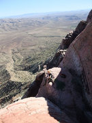 Rock Climbing Photo: great views from the P3 belay
