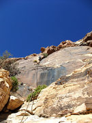 Rock Climbing Photo: P2. Dow avoided the bush belay and linked this up ...