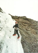 Rock Climbing Photo: On the small drip located near the Morrow Point Re...