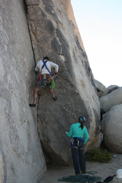 Fun climb. Me belayed by Agina Sedler