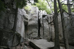 Rock Climbing Photo: A shot of some of the Upper Cliffs. The dihedral i...