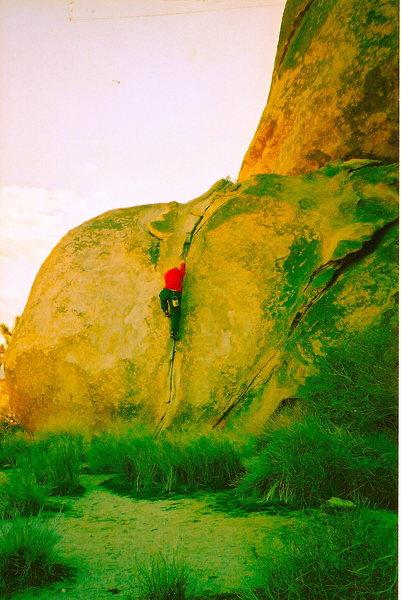 Rock Climbing Photo: white crack