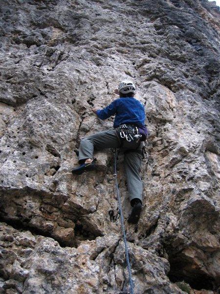 Rock Climbing Photo: Start of Tinsemal on Torre Quarta Alta.