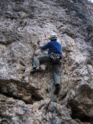 Rock Climbing Photo: Start of Tinsemal on Torre Quarta Alta.