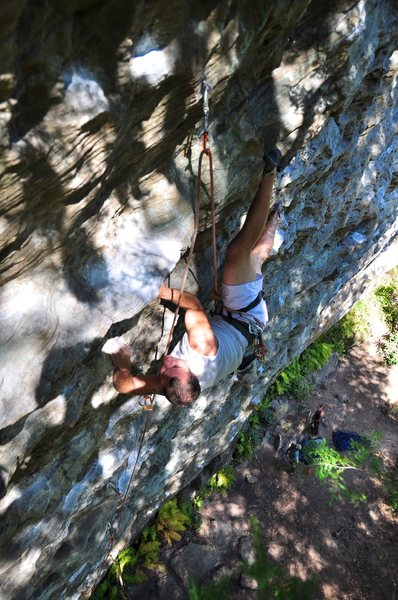 Rock Climbing Photo: A climber named Jordan busting out an interesting ...