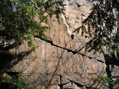 Rock Climbing Photo: You can see a little through the trees.