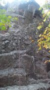 Rock Climbing Photo: Follow the rope anchors on top