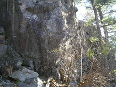 Rock Climbing Photo: Looking uphill from the gully. Former R&R Star is ...