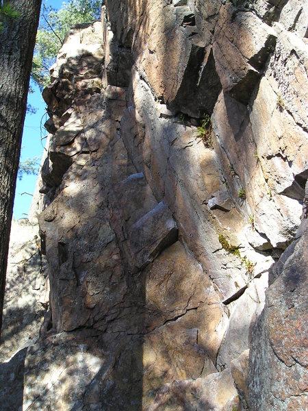 Rock Climbing Photo: View to top.