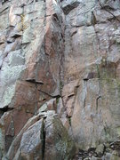Rock Climbing Photo: Climb on left corner of the dihedral.