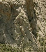 Rock Climbing Photo: Northwest buttress of Table Mountain. Cherry Jam f...