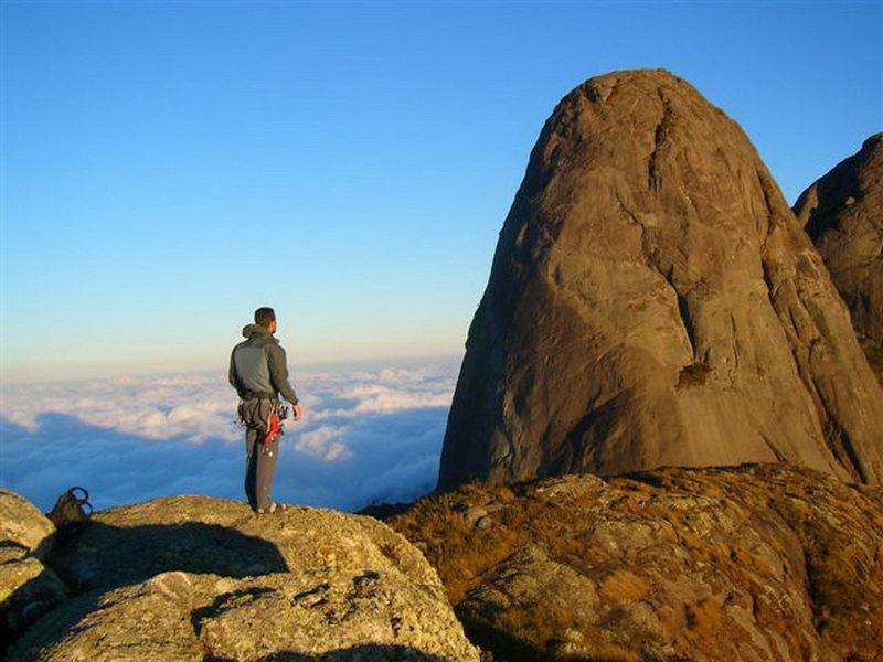 Pico Maior de Salinas visto do cume do Capacete. Município de Nova Friburgo, estado do Rio de Janeiro.