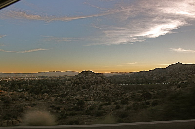 Last look at Stoney while getting on the 118 fwy on the last wednesday before the time change.