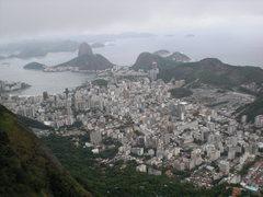 Rio de Janeiro visto da via K2, debaixo do Cristo Redentor, Rio de Janeiro.
