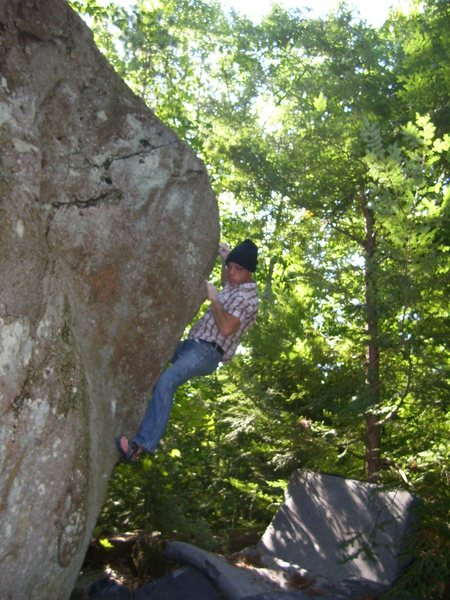 Rock Climbing Photo: Pete Otis bouldering at PWAY